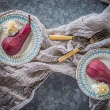 Poached Pears naturally sugar free