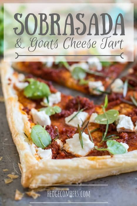 Sobrasada & Goat Cheese Tart