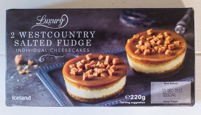 Iceland Salted Fudge cheesecakes