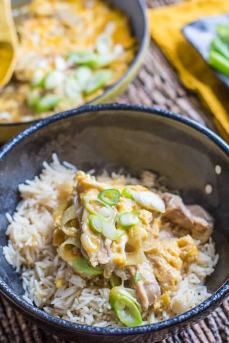 Oyakodon Japanese Chicken and Egg Bowl
