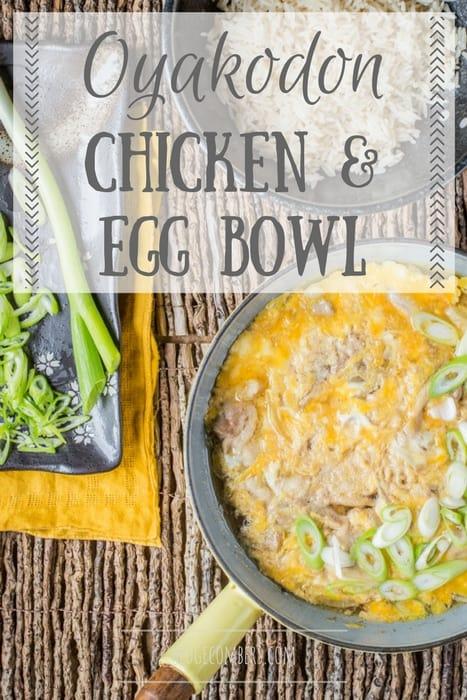 Oyakodon Japanese Chicken and Egg Bowl