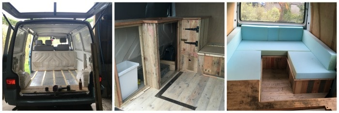 My self build vw t4 campervan conversion the hedgecombers for Vw t4 interior designs