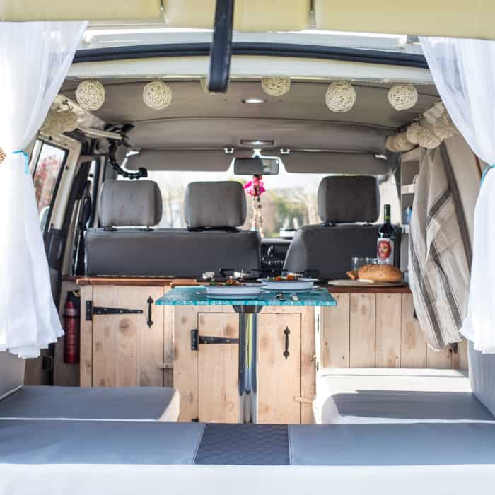 Self Build VW T4 Interior layout