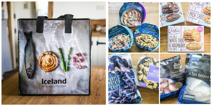 Red Shrimp Tempura with Spicy Soy Dipping Sauce made from my Iceland mystery bag shown on a table with contents unpacked