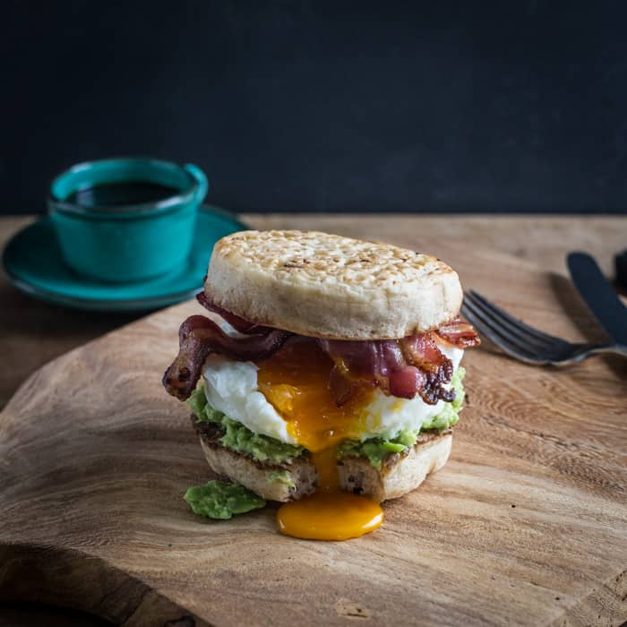 Breakfast Crumpet Burger