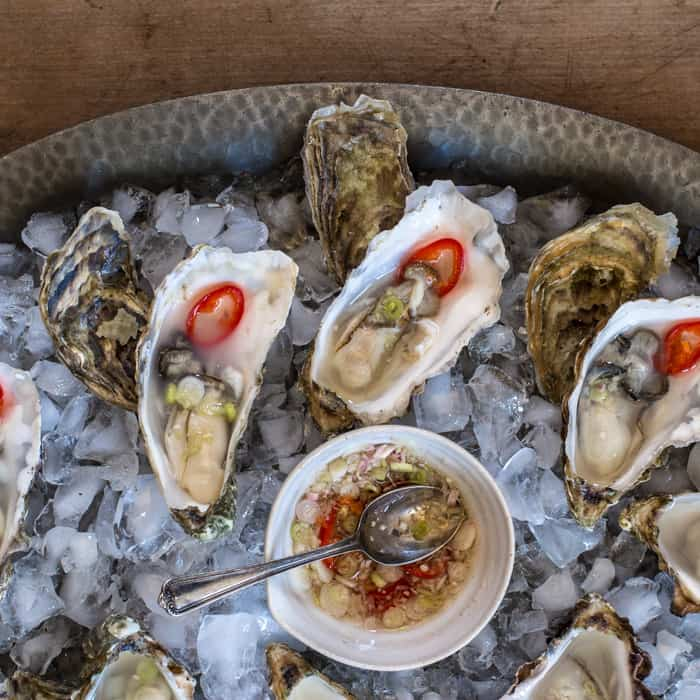 Lemongrass Infused Oysters