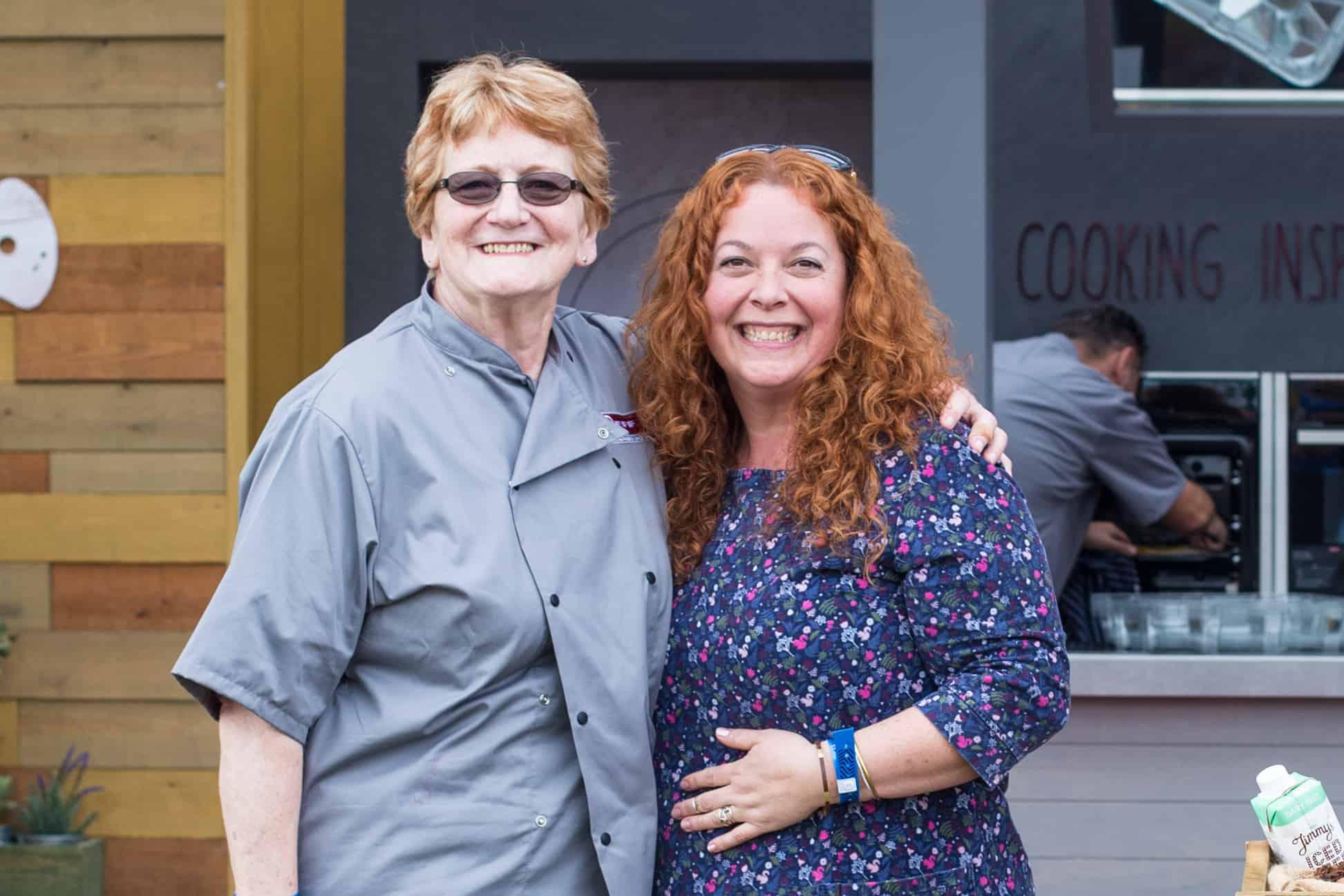 Jane Sarchet and Lynn Williams, senior home economist at Neff