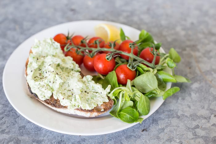 Broad Bean and Goats Cheese Bruschetta