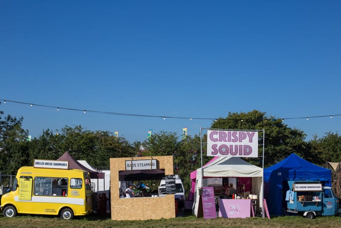 Street food trucks at The Big Feastival 2017