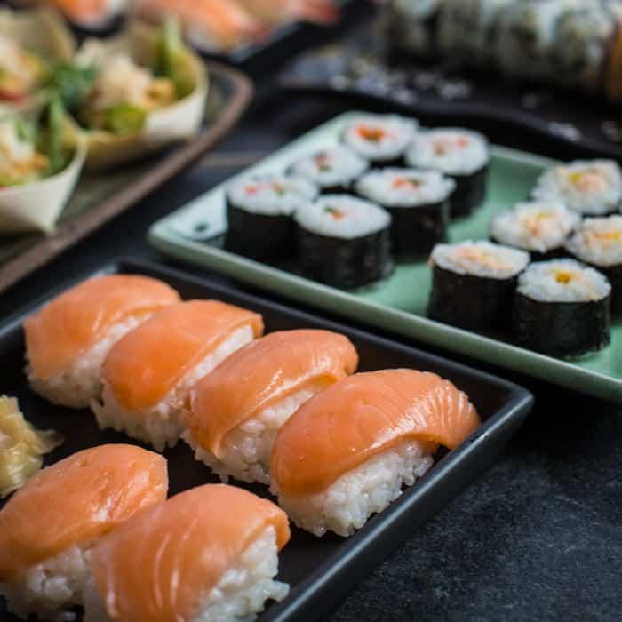 luxury sushi platter from Iceland