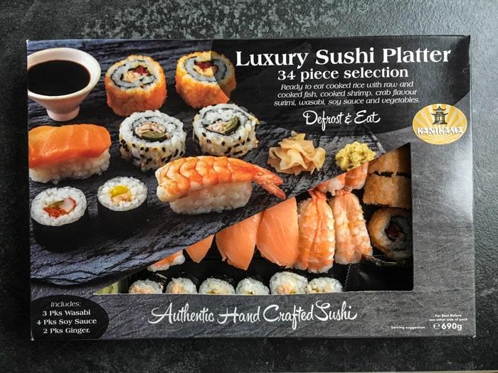 Iceland Luxury Sushi Platter - yum!