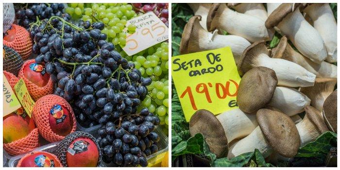 Fruit and veg on a Majorcan market stall