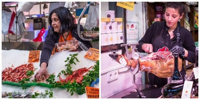 fishmonger and deli in Majorcan food market