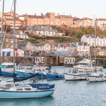 Porthleven harbour during the Porthleven Food Festival 2018