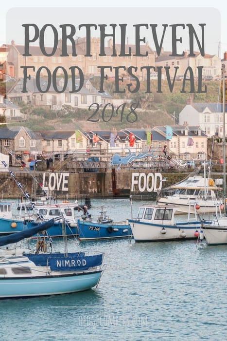 Porthleven harbour during the Porthleven Food Festival 2018