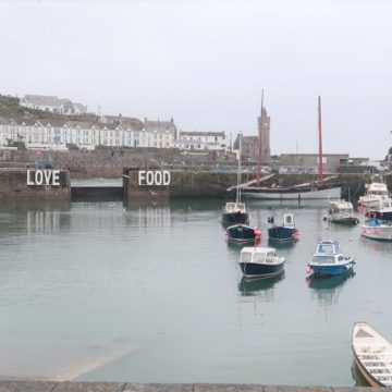 harbour shot of Porthleven, Cornwall