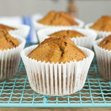 Pumpkin Spice Muffins with Walnut and Maple Syrup