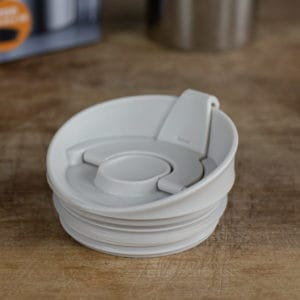 White lid from camping coffee maker