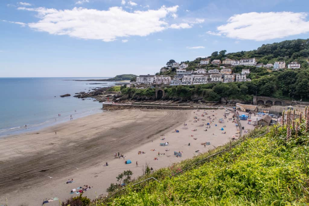 Looe beach view in Cornwall
