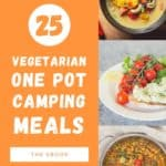 3 recipe photos from the cook book 25 one pot vegetarian camping meals