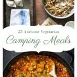2 images from the cook book 25 One Pot Vegetarian Camping Meals